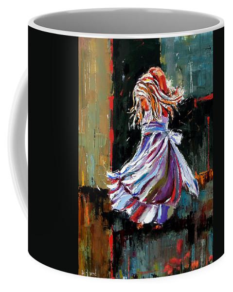 Girl Coffee Mug featuring the painting The Twirl by Debra Hurd