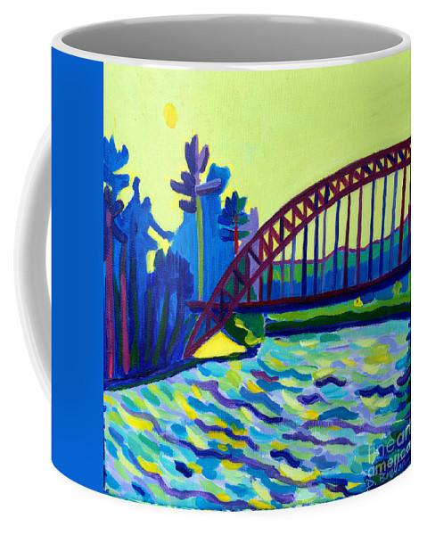 Water Coffee Mug featuring the painting The Tyngsborough Bridge by Debra Bretton Robinson
