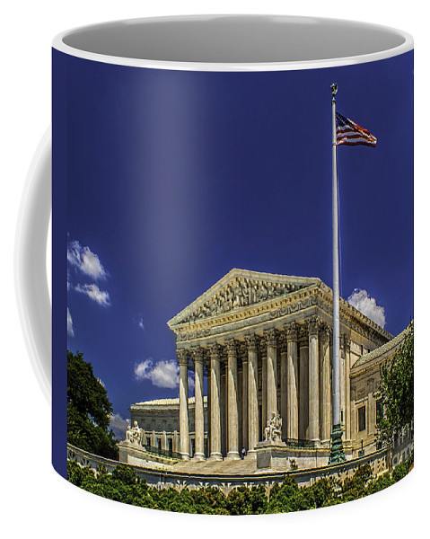 Supreme Coffee Mug featuring the photograph The Us Supreme Court by Nick Zelinsky