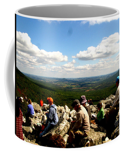 Valley Coffee Mug featuring the photograph The Valley Down Below by Donna Brown