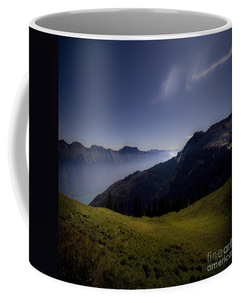 Valley Coffee Mug featuring the photograph The Valley In The Moonlight by Angel Ciesniarska