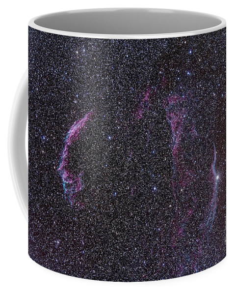 52 Cygni Coffee Mug featuring the photograph The Veil Nebula by Alan Dyer