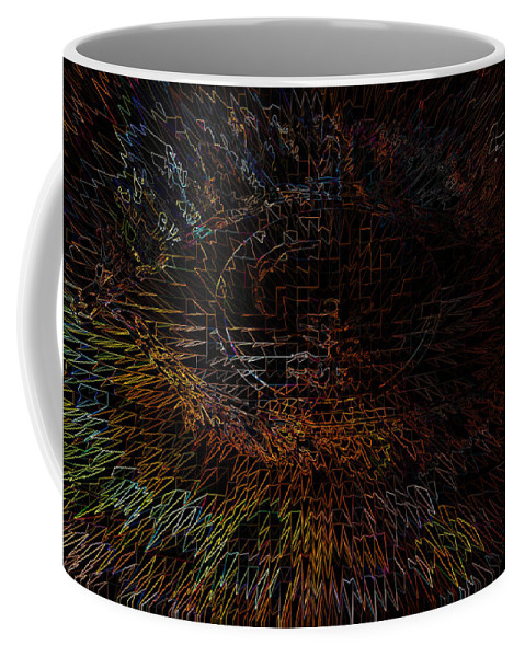 Eye Abstract Colors Rainbow Colours Weird Face Coffee Mug featuring the digital art The View by Andrea Lawrence