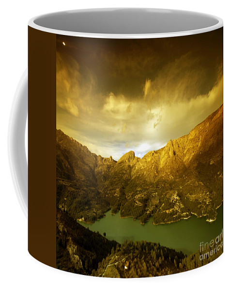 Guadalest Coffee Mug featuring the photograph the view from Guadalest by Angel Ciesniarska