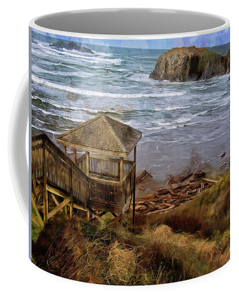 Hdr Coffee Mug featuring the photograph The View From Kronenberg Park by Thom Zehrfeld