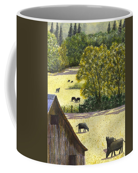 Landscape Coffee Mug featuring the painting The View From My Back Deck by Catherine G McElroy