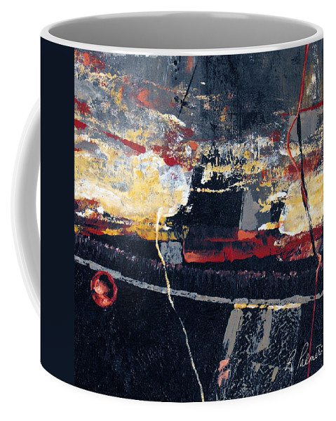 Abstract Coffee Mug featuring the painting The View by Ruth Palmer