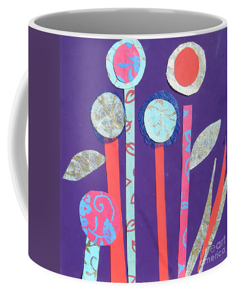 Flowers Coffee Mug featuring the mixed media The Violet Hour by Debra Bretton Robinson