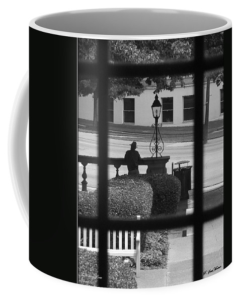 Black And White Coffee Mug featuring the photograph The Waiting Room by Robert Meanor