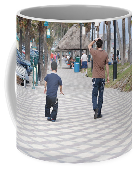 Man Coffee Mug featuring the photograph The Walk by Rob Hans