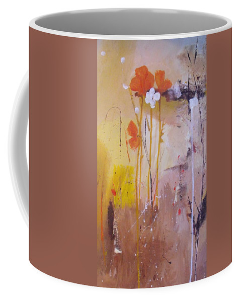 Abstract Coffee Mug featuring the painting The Wallflowers by Ruth Palmer