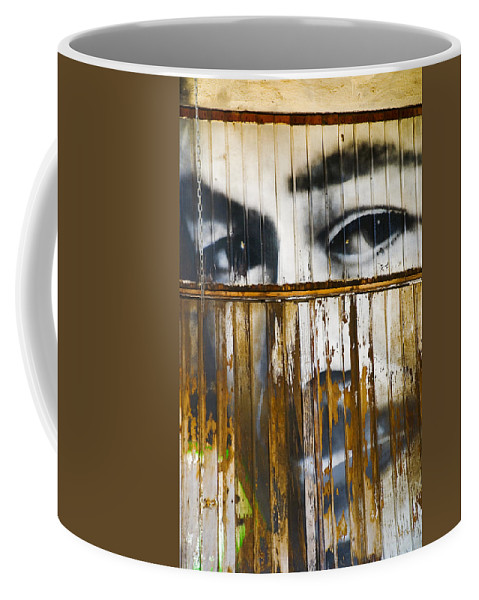 Escondido Coffee Mug featuring the photograph The Walls Have Eyes by Skip Hunt