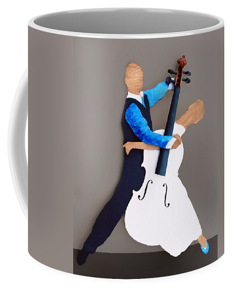 Dance Coffee Mug featuring the sculpture The Waltz by Steve Karol