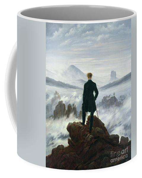The Coffee Mug featuring the painting The Wanderer Above The Sea Of Fog by Caspar David Friedrich