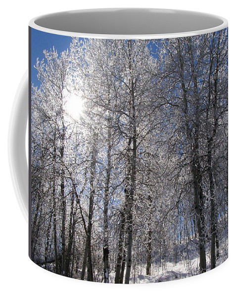 Frost Coffee Mug featuring the photograph The Warmth Of The Sun by DeeLon Merritt