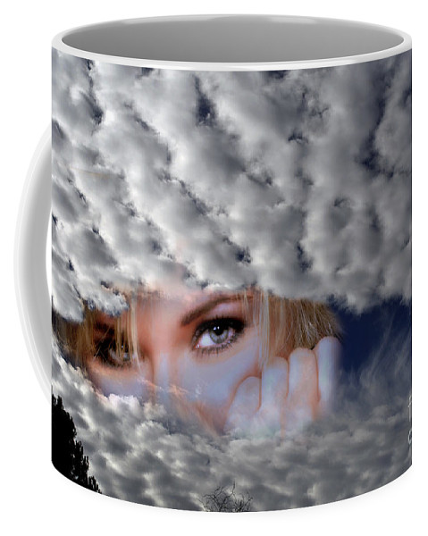 Clay Coffee Mug featuring the photograph The Watcher Above by Clayton Bruster