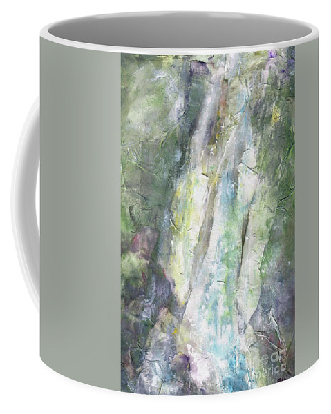 Waterfalls Coffee Mug featuring the painting The Water Falls by Frances Marino
