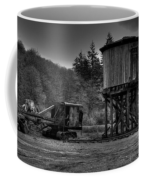 Black And White Coffee Mug featuring the photograph The Water Tower by David Patterson