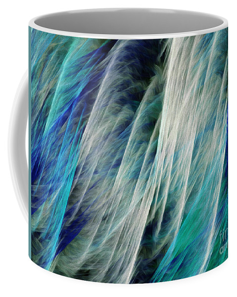 Andee Design Abstract Coffee Mug featuring the digital art The Waterfall Abstract by Andee Design