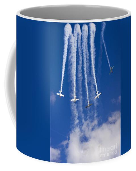 Aerostars Yak-50 Display Team Coffee Mug featuring the photograph The Waterfalls by Angel Tarantella