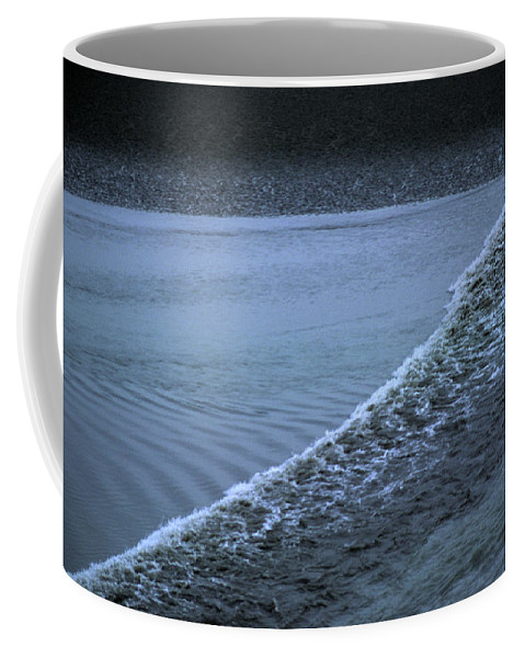 Portage Coffee Mug featuring the photograph The Wave Of A Bore Tide Traveling by Stacy Gold