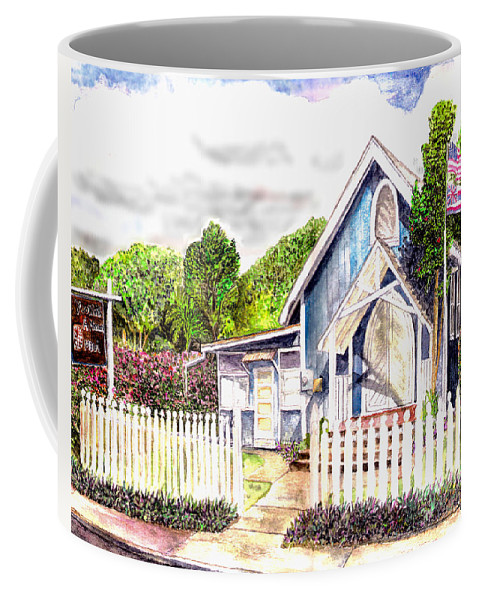 Ywam Maui Coffee Mug featuring the painting The Way Inn by Eric Samuelson