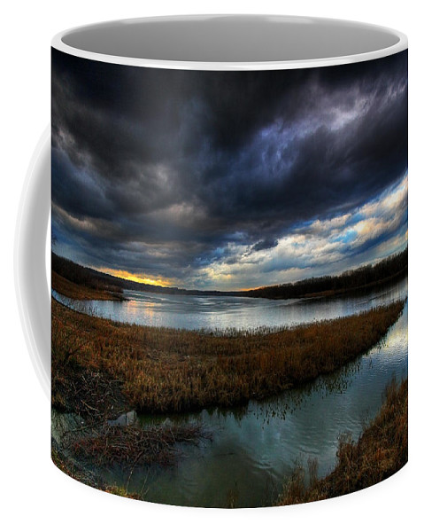 Mohawk River Coffee Mug featuring the photograph The Way Of The River by Neil Shapiro