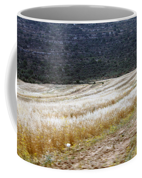 Landscape Coffee Mug featuring the photograph The Way To Nablus City by Munir Alawi