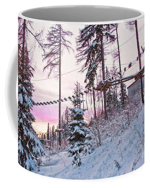 Hotel Panorama Resort Coffee Mug featuring the photograph The Way To The Sky 2 by Alex Art and Photo