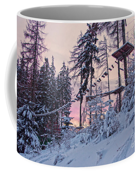 Hotel Panorama Resort Coffee Mug featuring the photograph The Way To The Sky V2 by Alex Art and Photo