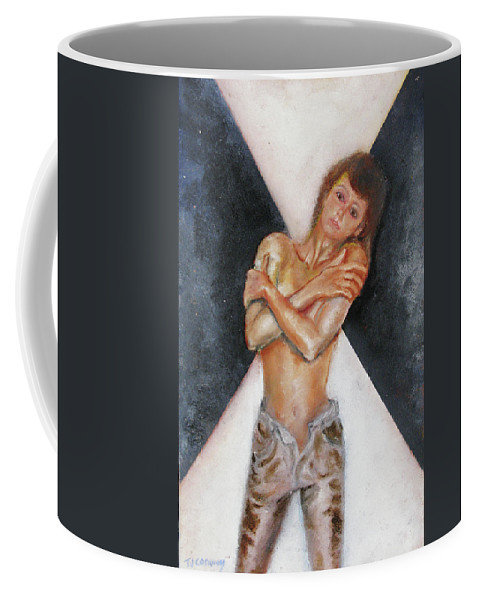 Females Coffee Mug featuring the painting The Way You Make Me Feel by Tom Conway