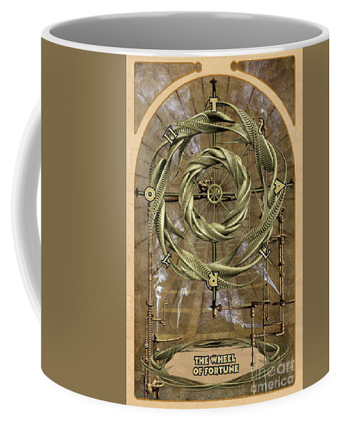 Magic Coffee Mug featuring the digital art The Wheel Of Fortune by John Edwards