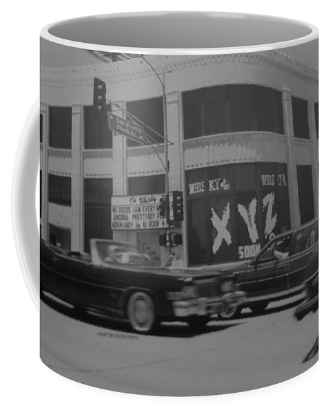 Black And White Coffee Mug featuring the photograph The Whiskey In Black And White by Rob Hans