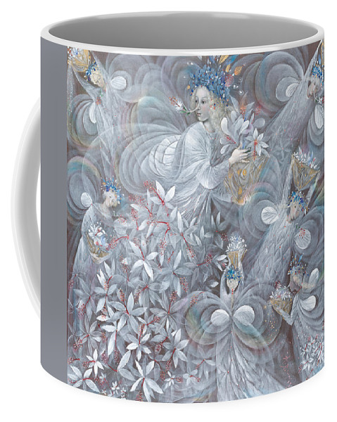 Hibiscus Coffee Mug featuring the painting The White Hibiscus by Annael Anelia Pavlova