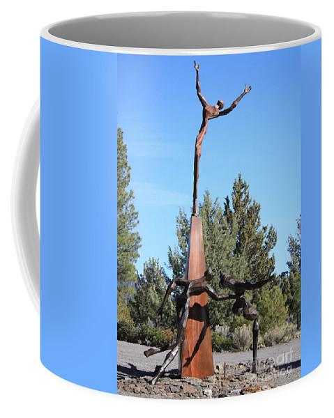 Living Memorial Sculpture Garden Coffee Mug featuring the photograph The Why Group by Carol Groenen