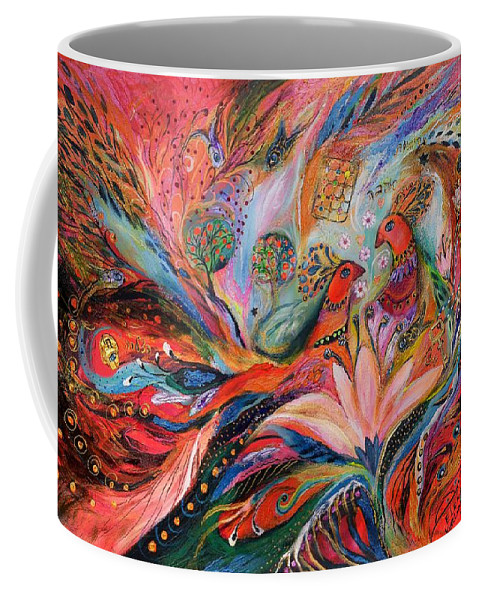 Original Coffee Mug featuring the painting The Wind Rose by Elena Kotliarker