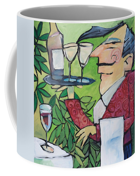 Wine Coffee Mug featuring the painting The Wine Steward by Tim Nyberg