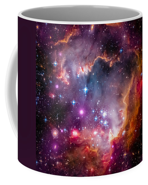 Cosmos Coffee Mug featuring the photograph The Wing Of The Small Magellanic Cloud by Marco Oliveira
