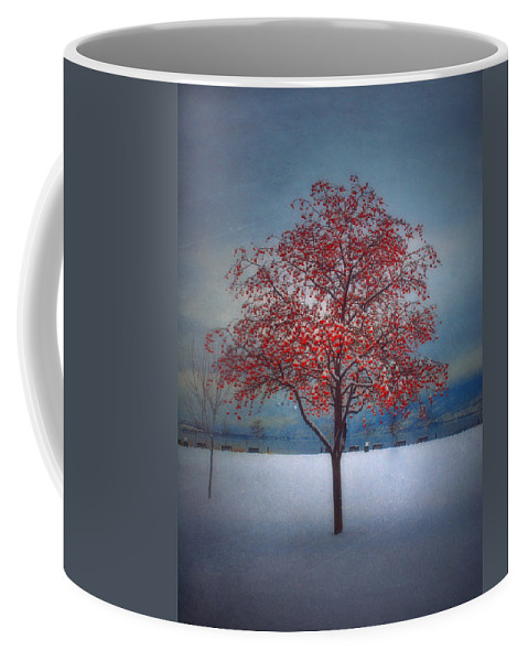 Tree Coffee Mug featuring the photograph The Winter Berries by Tara Turner
