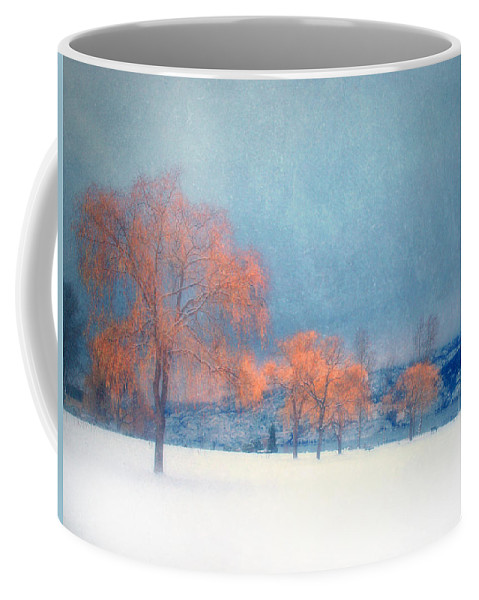 Blue Coffee Mug featuring the photograph The Winter Blues by Tara Turner