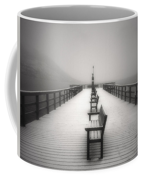 Okanagan Coffee Mug featuring the photograph The Winter Pier by Tara Turner