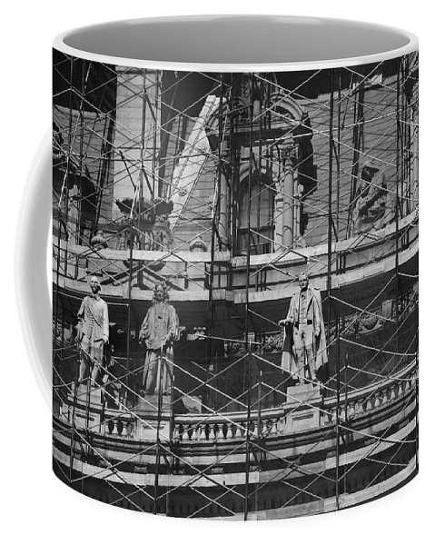 Black And White Coffee Mug featuring the photograph The Wiseguys by Rob Hans