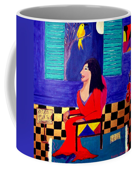 Fauvism Coffee Mug featuring the painting The Witch's Duet by Rusty Gladdish