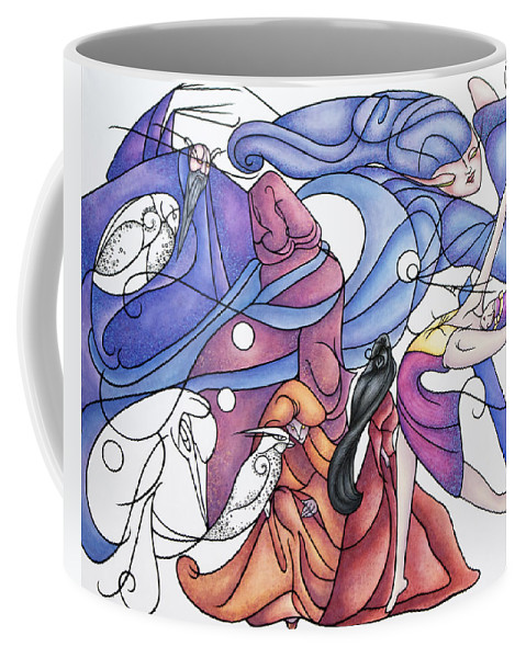 Wizard Coffee Mug featuring the painting The Wizards Daughter by Judy Henninger
