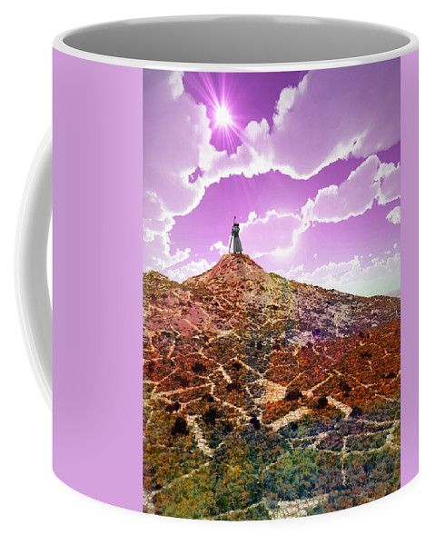 Wizard Coffee Mug featuring the digital art The Wizzard by Jay Salton