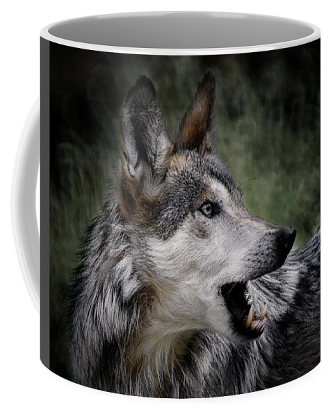 Wolf Coffee Mug featuring the photograph The Wolf 4a by Ernie Echols