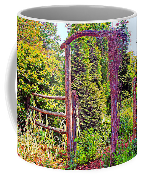 The Wooden Arch Coffee Mug featuring the photograph The Wooden Arch by Geraldine DeBoer