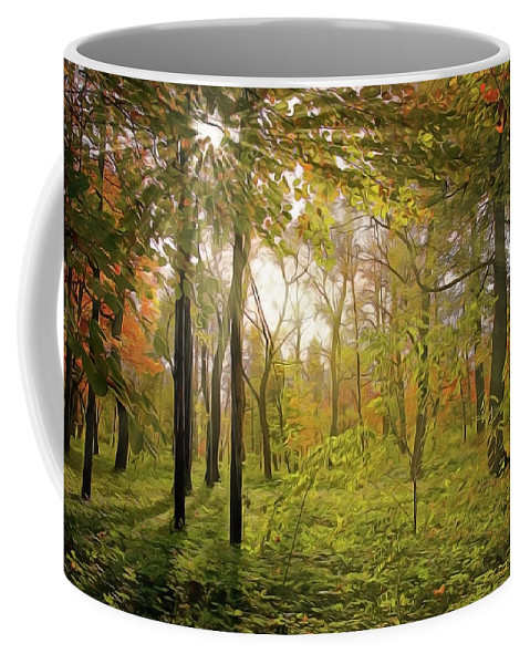 The Woods Coffee Mug featuring the painting The Woods by Harry Warrick
