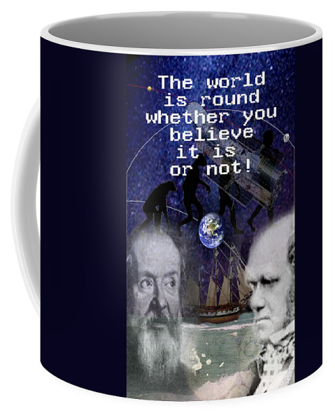 Poster Coffee Mug featuring the digital art The World Is Round by Steve Karol