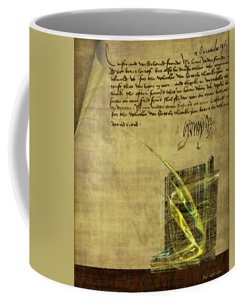 Ink Coffee Mug featuring the painting The Writing On The Wall by RC DeWinter